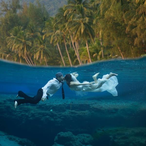 Víz alatti fotózás Csillával és Dominikkal