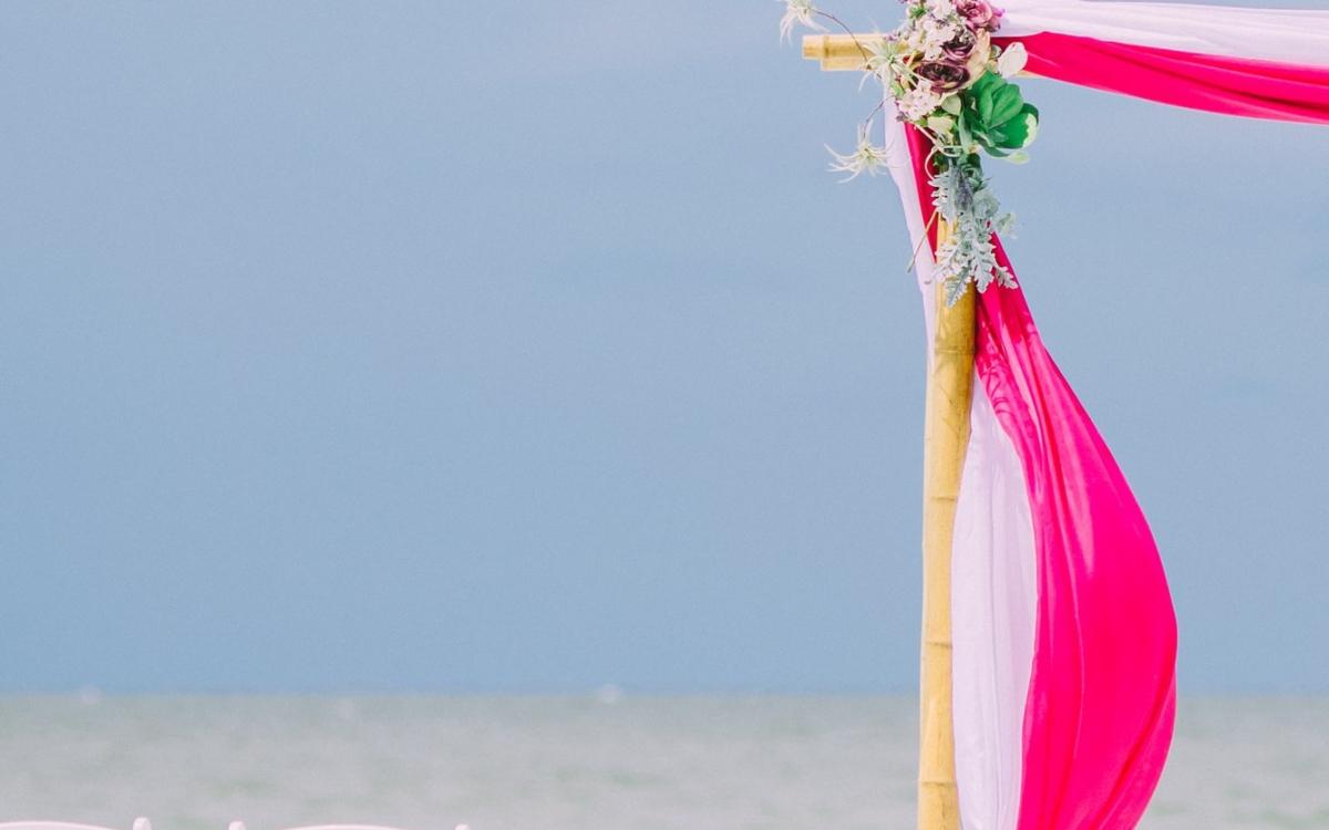 Exotikus Tengerparti Esküvői Dekoráció